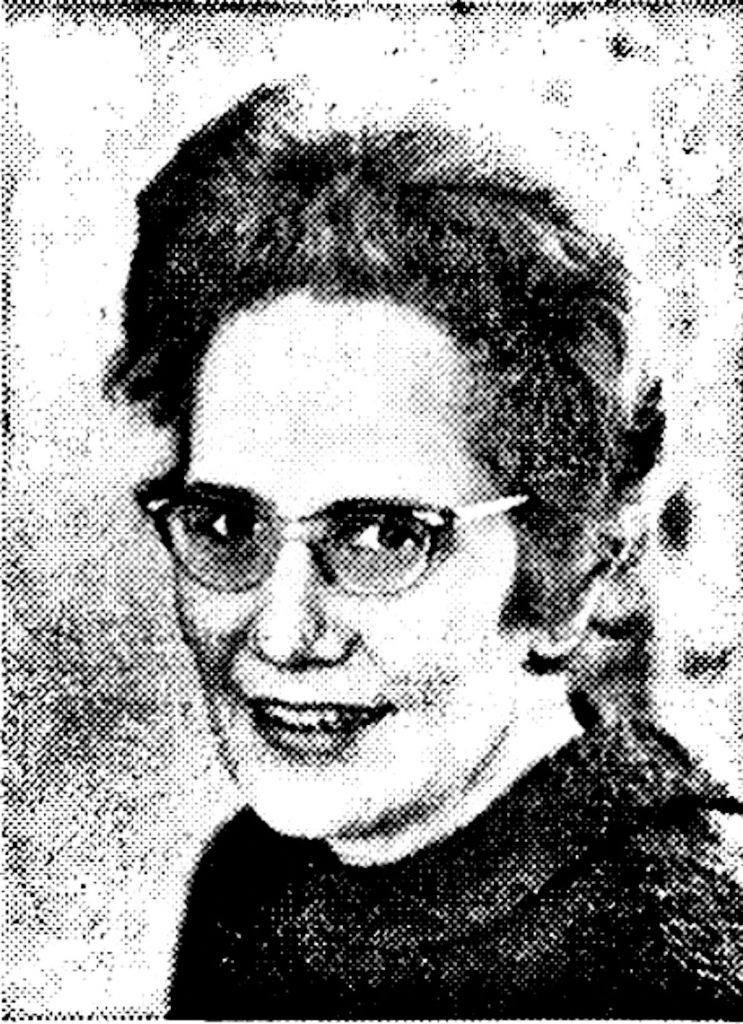 Elfriede Austentat, Leiterin des haus des Kindes | Quelle: Werbebroschüre 1965