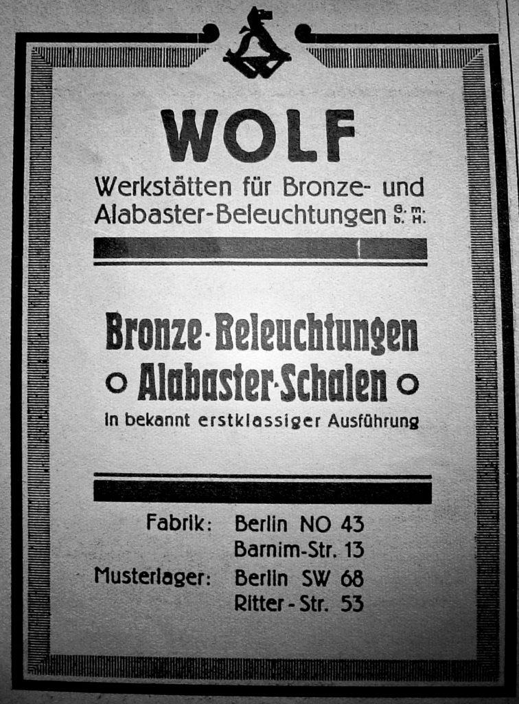 Reklame Wolf Werkstätten | Quelle: Wandreklame