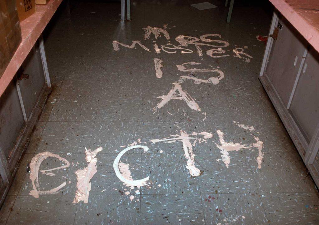 Meryl Meisler, MRS Miesler IS A BictH IS 291, Bushwick, Brooklyn, NY. May 1990